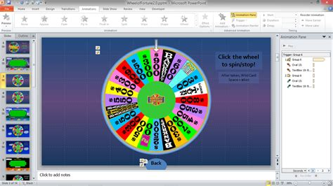 wheel of fortune template wheel of fortune spinner powerpoint popular sles