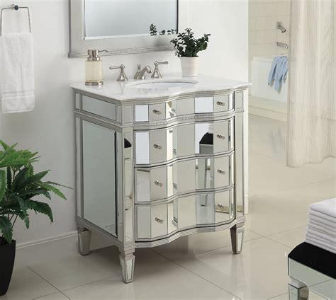 mirrored vanity bathroom adelina 30 inch mirrored bathroom vanity imperial white