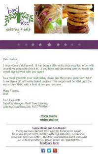 catering email template 30 email ideas for when you re not sure what to send
