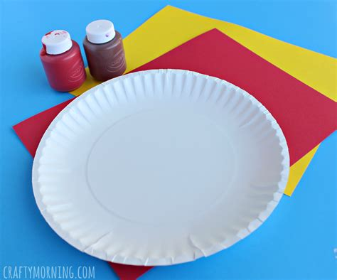 Craft Of Paper Plate - paper plate pepperoni pizza craft crafty morning