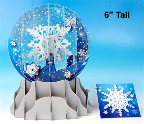 pop up snow globe card template de 119 b 228 sta sliceform bilderna p 229