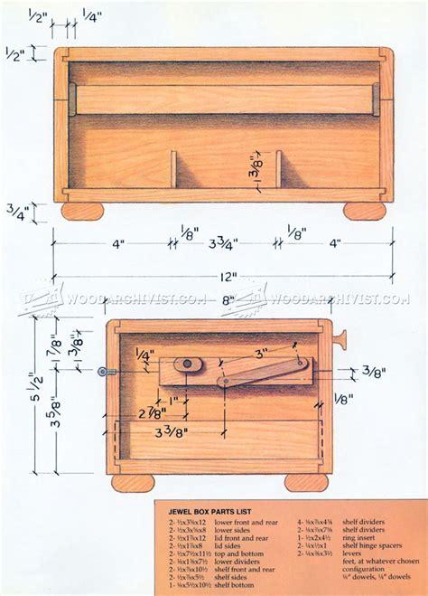 wooden jewelry box plans woodarchivist