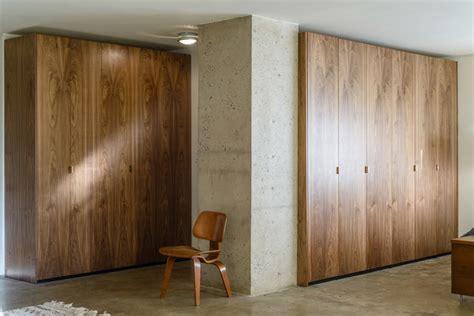 Semi Handmade Doors - walnut ikea closet contemporary closet new york by