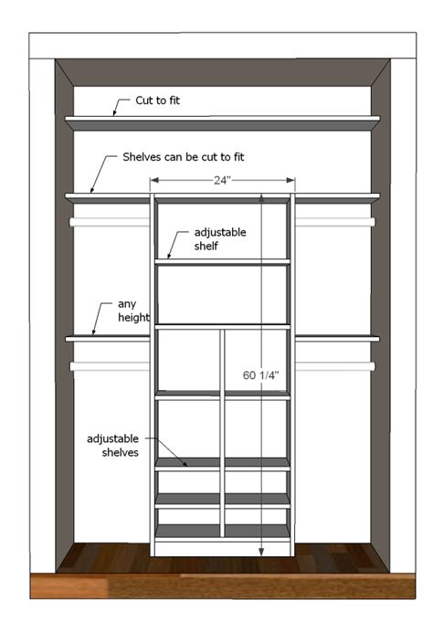 bedroom closet size ana white just my size closet diy projects
