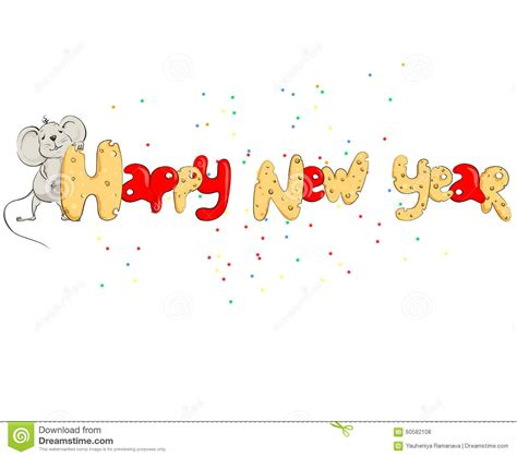 when is the next new year of the rat happy new year in the form of cheese letters stock vector