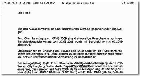 Schreiben An Botschafter Muster Kein Visum F 252 R Deutschland
