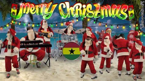 santa claus  caribbean reggae style merry christmas
