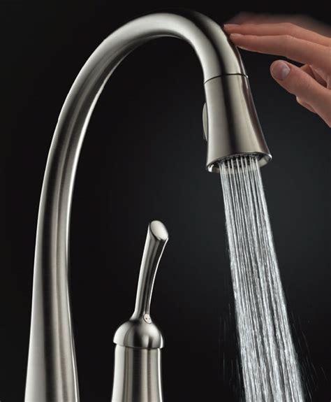 touch sensitive kitchen faucet delta touch2o touch sensitive faucet 980t ss dst ebay