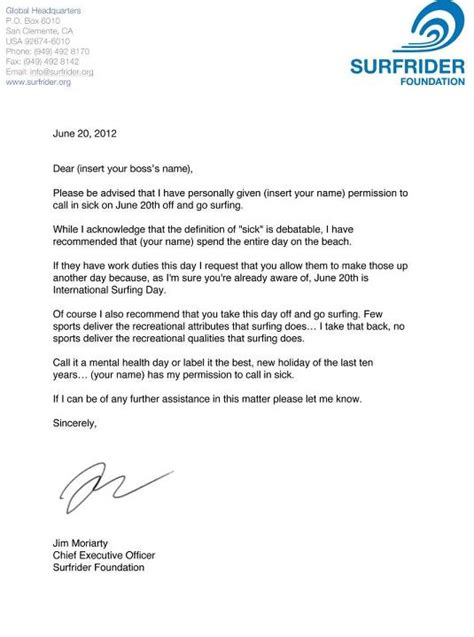 Permission Letter To Go To School International Surfing Day June 20 2012 Scoutwell
