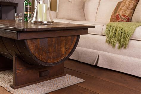 Barrell Coffee Table Solid Wood Whiskey Barrel Coffee Table Distressed Finish