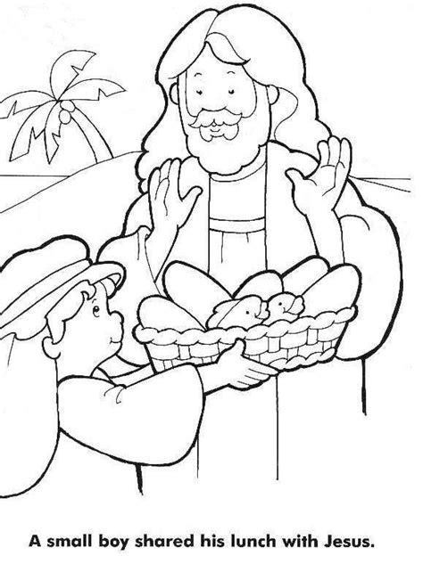 Bible Coloring Page Feeding 5000 by The Catholic Toolbox A To Z Bible Story Lesson Letter L