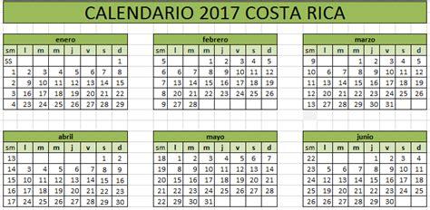 Calendario Octubre 2017 Excel Calendario 2017 De Costa Rica 171 Excel Avanzado