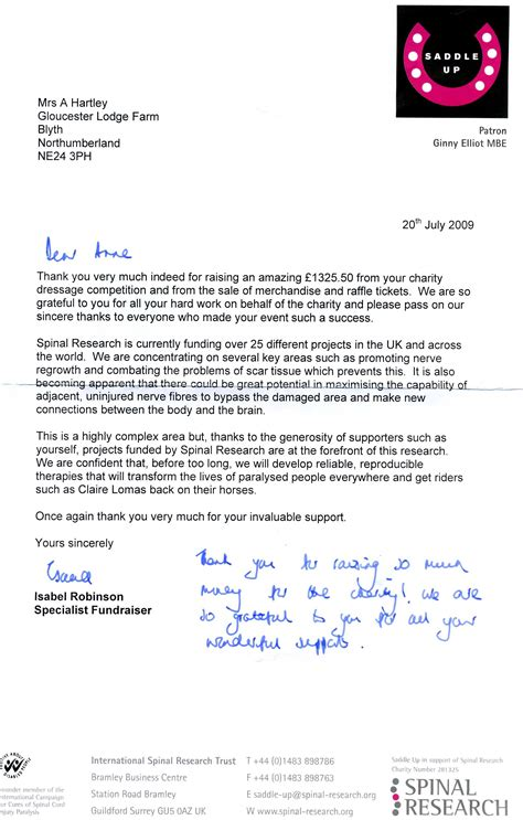 School Appeal Letter Exles Uk 27 06 09 163 1325 50 for the spinal research saddle up