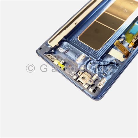 Lcd Galaxy Note 8 blue lcd display touch screen digitizer frame assembly for