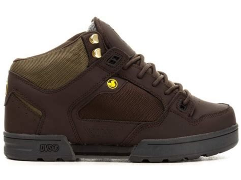 shoes dvs militia boot brown green leather bmxmagazin