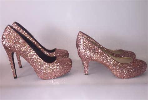 Promo Diskon Sandal Wedges Bunga Pink Wedges High Heels Flower Pink F s sparkly metallic gold pink glitter high low heels weddi glitter shoe co