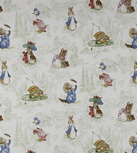 peter rabbit curtains uk the tales of beatrix potter fabric by jane churchill