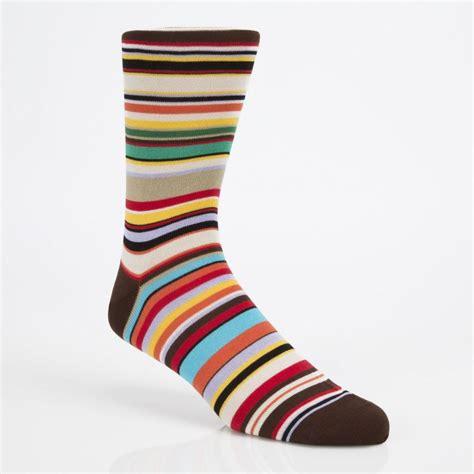 Stripe Socks paul smith s signature stripe socks in brown for