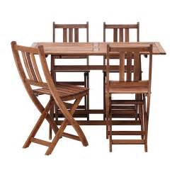 patio table sets folding outdoor: bollo table and  chairs acacia brown folding chair folding table