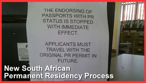 Endorsement Letter For Gate Pass New South Permanent Residency Process