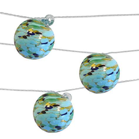 Aurora Glow Sea Glass Solar String Lights Allsop Home Glass String Lights