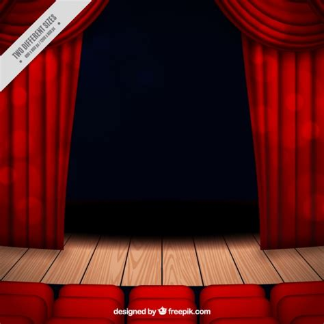 stage background theater stage background with curtains and seats vector
