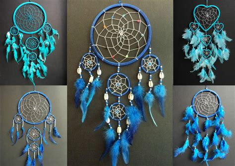 Colours Home Decor blue dream catcher boys girls new gift uk dreamcatcher