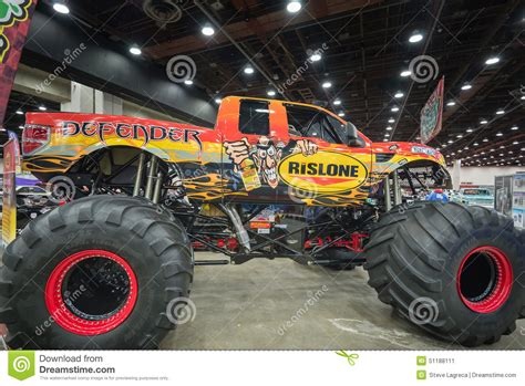 monster truck show michigan defender a 2014 ford f 150 raptor stock photo image