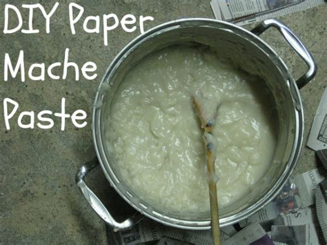 How To Make Paper Mache Glue At Home - how to make paper mache paste blissfully domestic