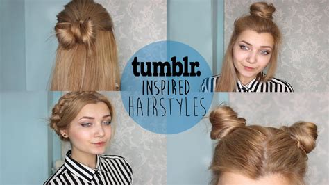 easy hairstyles for school tumblr tumblr inspired hairstyles youtube