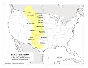 plains of map geography of the great plains