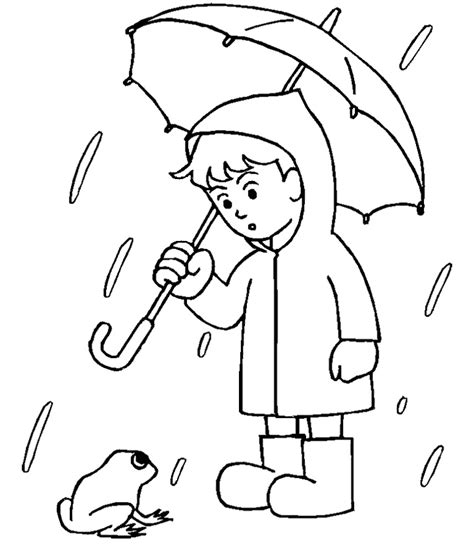 free coloring pages of umbrella rain