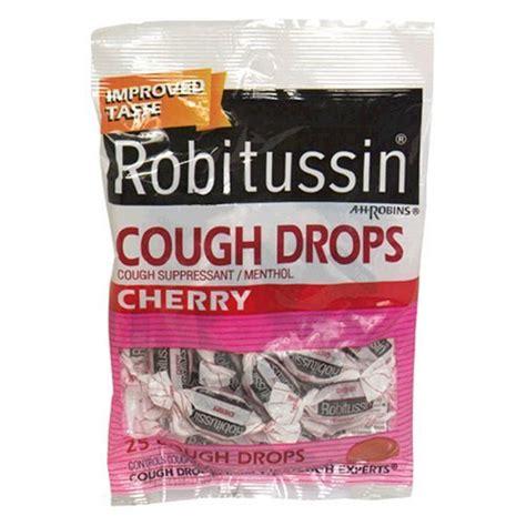 couch drops com robitussin cough drops cherry 25 cough drops