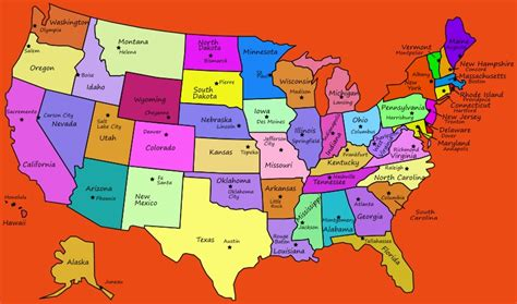 map of the united states and their capitals us map states and capitals free world map