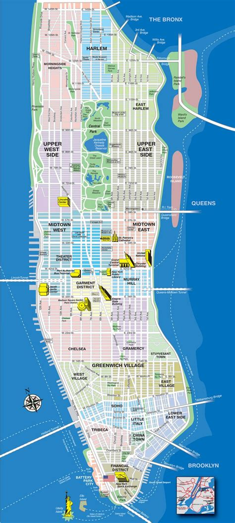 map of ny attractions best 25 map of manhattan ideas on manhattan
