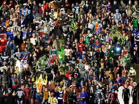 collage of marvel and dc characters hd wallpaper and marvel villains wallpaper wallpapersafari