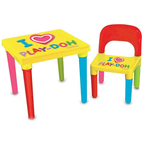 Play Doh Table by Play Doh Activity Table Chair Set With Creativity