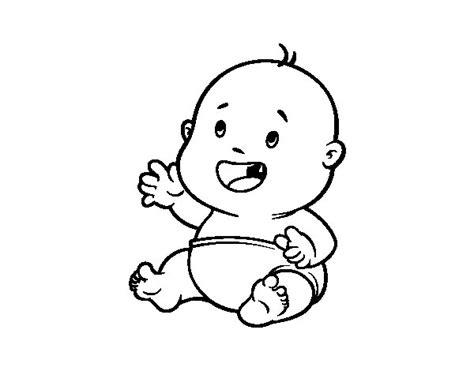 imagenes para colorear bebes dibujo de un bebe recien nacido a colores y bonitas