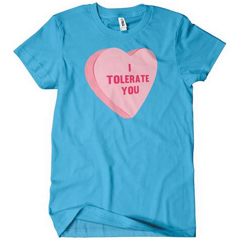 Valentines Day Tees For Two by I Tolerate You S T Shirt Valentines Day Gift