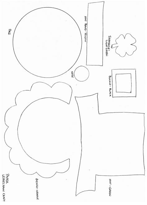 Printable Paper Crafts Templates - leprechaun crafts and templates search results