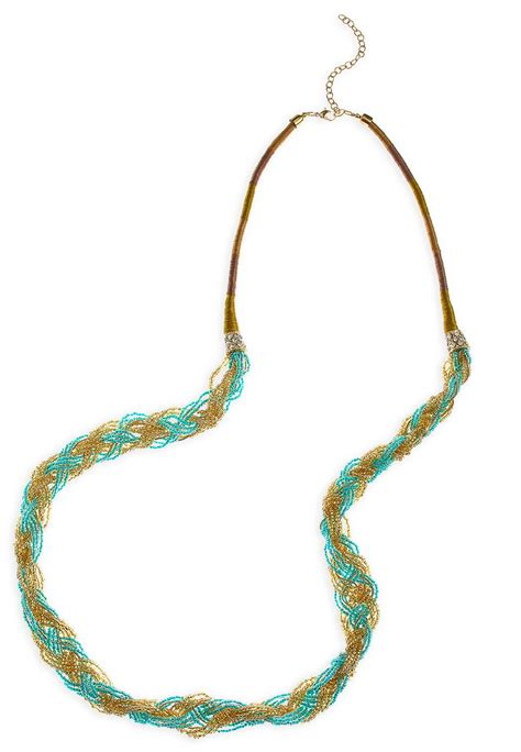 braided bead necklace cato fashions
