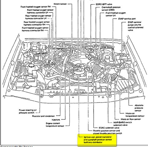 2000 nissan frontier parts diagram i a 2000 nissan frontier 6cly engine lite will not go