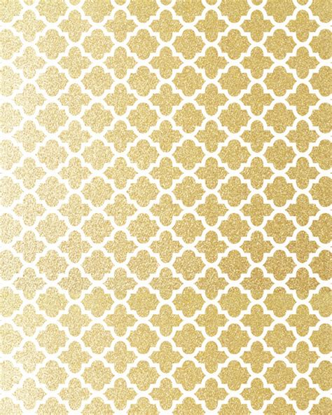 gold quatrefoil wallpaper gold glitter quatrefoil art print by fancy designs society6