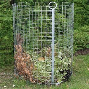 bauhaus komposter im garten hadra roll komposter durchmesser 86 cm draht bauhaus