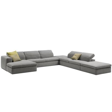 Italian Sectional Sofas by Italian Modern Sectional Sofa With Adjustable Back Made