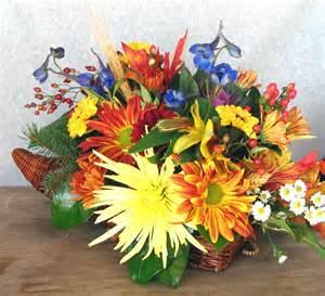 Cornucopia Vase Thanksgiving Floral Centerpieces