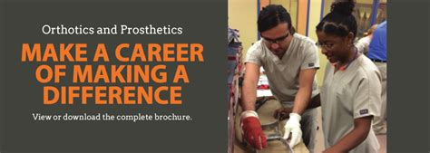 Prosthetist Education by O P Careers Make A Career Of A Difference