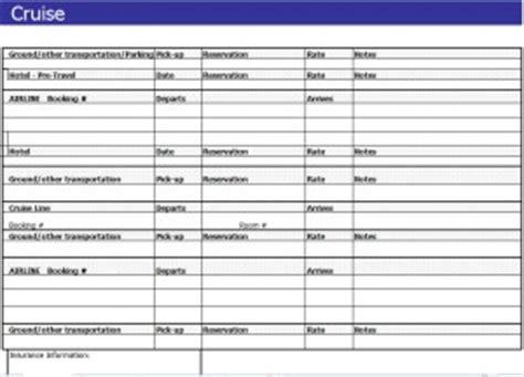 cruise planning spreadsheet cruise itinerary spreadsheet
