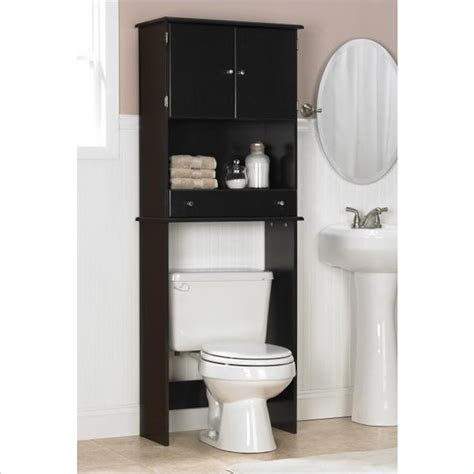 Ameriwood Over The Toilet Bathroom Space Saver Espresso Bathroom Shelves The Toilet