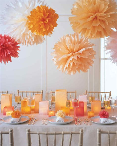 How To Make Large Paper Pom Poms - tissue paper pom poms diy ideas tutorials